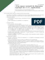 (expository notes) Pascal Boyer - Groupe linéaire d'un espace vectoriel de dimension finie E, sous-groupe de GL(E), applications (2007)