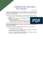 analisis hemostasia primaria y secundaria