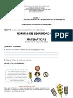 GUÍA ESPECIAL DE MATEMÁTICAS GRADO 4°