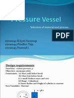 Pressure Vessel - Selection of Material and Manufacturing Process