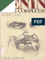 Obras Completas [Akal] (Tomo 21) - VLADIMIR LENIN
