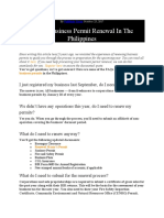 FAQs-Business Permit Renewal In The Philippines
