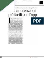 Manutenzioni più facili con l'app - Il Corriere Adriatico del 26 febbraio 2021