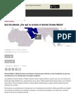 Asia Occidental  ¿Por qué es erróneo el término Oriente Medio