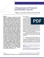Benefits and Requirements of Vitamin D for Optimal Health; A Review. Grant, and Holick, 2005.