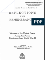 Reflections and Remembrances Veterans of the United States Army Air Forces Reminisce About WWII