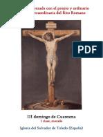 III Domingo de Cuaresma. Propio y Ordinario de la santa misa