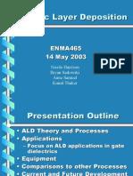 Presentation atomic layer deposition