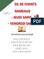 RECUEIL RAMEAUX JEUDI VENDREDI Saint