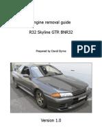 GTR Engine Removal