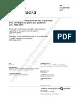NP EN ISO 9004 2011 - Gestao do Sucesso Sustentado de uma Organizacao