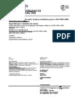 PrNP 4463 2007 - Linhas de Orientacao Sobre Tecnicas Estatisticas Para a ISO 9001 2000