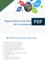Organisation et fonctionnement de la commune