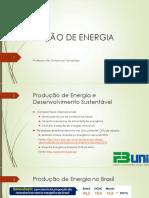 Aula 2 - Produção de Energia