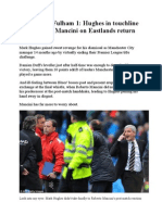 Man City 1 Fulham 1
