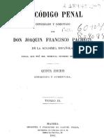Pacheco. El Codigo Penal Concordado y Comentado T2 1881