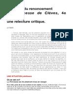 Clèves-relecture Sc Du Renoncement