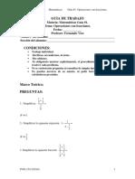 Matematicas de Secundaria Guias de Trabajo