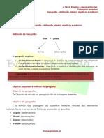 A.1.1 - Ficha Informativa - Geografia - Definição, Objeto, Objetivos e Método