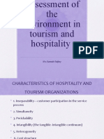 CH 3 CHARACTERISTICS OF HOSPITALITY AND TOURISM ORGANIZATIONS