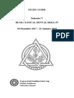 STUDY GUIDE CLINICAL DENTAL SKILL  IV 2017 TERBARU