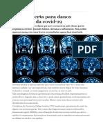 Estudo alerta para danos cerebrais da covid