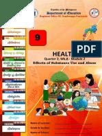 Week 8 - Mapeh 9 Health q2 m 2