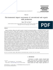 Environmental impact assessment of conventional and organic milk production