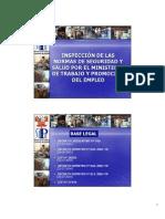 inspeccion de las normas de seguridad y salud por el ministerio de trabajo y promocion del empleo  -  ministerio de trabajo