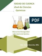 Bioseguridad en El Laboratorio de Quimica