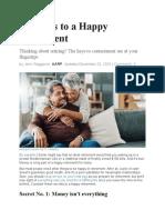 5 Secrets to a Happy Retirement