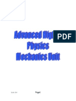 AH mechanics unit1 notes