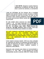 PALABRAS MANGUI ANIVERSARIO SAC NICTE