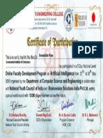 certificate FDP