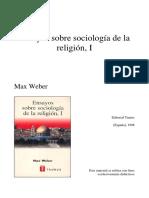 Weber_ensayo religion