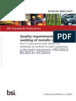 BS EN ISO 3834-5 2015
