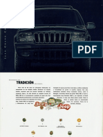 WJ Jeep Grand Cherokee (WJ) Catálogo español (ES) año 2001-agosto (20 páginas)