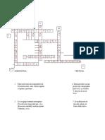 Crucigrama de bioquímica