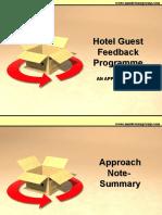 Hotel Guest Feedback Programme- Ideas