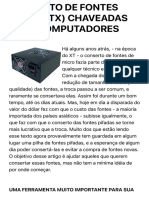 CONSERTO DE FONTES (AT) E (ATX) CHAVEADAS PARA COMPUTADORES