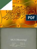 MCS (Morning) Dld Slide Pre