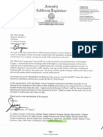 Jerry Hill's Letter to Bijan Sartipi, Director, District 4 Caltrans