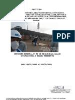 Informe Semanal N°31 - I. E GUADALUPE