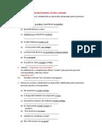 Ficha de trabalho - Classe do Pronome e correção