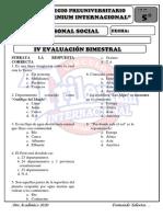 IV examen personal social 5º 2020