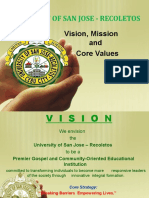 USJR-Vision and Core Values, 25 Jan 2021