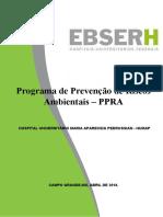 1 - PROGRAMA DE PREVENÇÃO DE RISCOS AMBIENTAIS (PPRA) atualizado