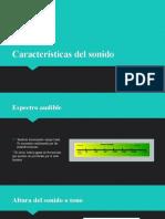 Caracteristicas del sonido