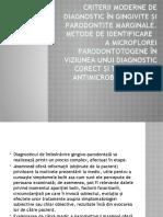 Criterii Moderne de Diagnostic În Gingivite Și