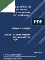 SEMANA 03 – ORAÇÃO_Apresentação